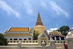 Più grande stupa in Tailandia Immagine Stock Libera da Diritti
