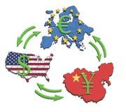 Più grandi economie del mondo Fotografia Stock