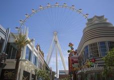 Più nuova attrazione di Las Vegas il dissoluto Ferris Wheel immagini stock libere da diritti