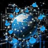 Più nuove tecnologie del Internet illustrazione vettoriale