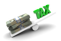 Più soldi meno tassa Immagine Stock Libera da Diritti