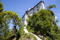 Più vecchia destinazione sanguinata di viaggio della Slovenia del castello del castello Immagine Stock Libera da Diritti