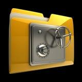 Più vecchia icona con la serratura di obbligazione Immagine Stock
