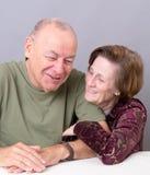 Più vecchie coppie felici Fotografie Stock Libere da Diritti