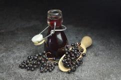 Più vecchio eco di frutta fresca del succo della bacca bio- immagine stock libera da diritti