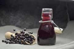 Più vecchio eco di frutta fresca del succo della bacca bio- immagini stock