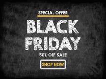 piątek czarny sprzedaż Czarna deska z teksturą, tło Obraz Royalty Free