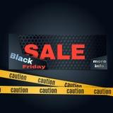 piątek czarny sprzedaż Kolorowy technika sztandaru wektoru set Obrazy Royalty Free
