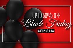 piątek czarny sprzedaż Realistyczny czerń szybko się zwiększać na czerwonym tle duży rabaty Dla twój biznesowego projekta Sieć sz obraz stock
