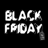 Piątek czarny tło Fotografia Stock