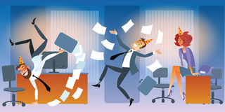 Piątek w biurze ilustracja wektor