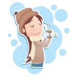 pić gorącej herbaty Fotografia Stock
