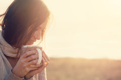 pić herbatę Fotografia Royalty Free