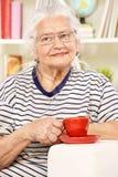 Pić herbaty Zdjęcie Royalty Free