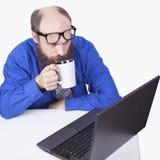 Pić i pracować - biznesmen (serie) Zdjęcie Royalty Free
