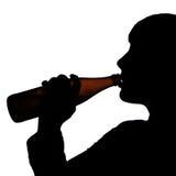 Pić piwo obrazy stock