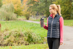 Pić po jogging Obrazy Stock