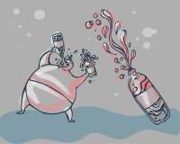 pić wodę royalty ilustracja