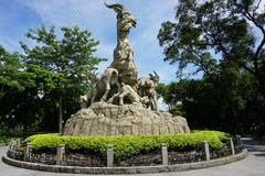 Pięć baranów statua Zdjęcia Stock