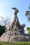 Pięć baranów statua w Yuexiu parku symbol Guangzhou, Chiny Obraz Royalty Free