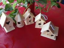 Pięć Birdhouses Zdjęcia Royalty Free