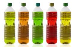 pięć butelek oleju Obrazy Royalty Free