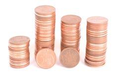 Pięć centów monet południe - afrykański skraju currecy Obrazy Stock