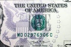 Pięć dolarów banknot Fotografia Stock