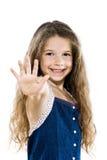 pięć dziewczyn wysoki mały portreta salut fotografia stock