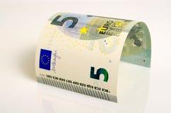 Pięć euro Zdjęcie Stock