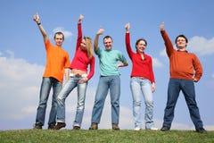 pięć gestów ok Fotografia Royalty Free
