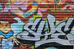 pięć graffiti pointz Fotografia Royalty Free