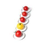 pięć gronowy organicznie pomidor Zdjęcia Stock