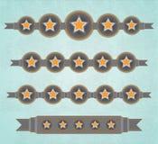 Pięć gwiazd faborków ilustracja wektor