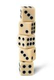 Pięć hazardów kostka do gry zdjęcia stock
