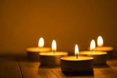 Pięć herbacianych świateł Zdjęcia Royalty Free