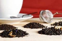 pięć herbat Obrazy Stock