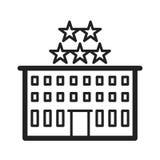 pięć hoteli gwiazda Zdjęcia Royalty Free