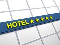 pięć hotelowych gwiazd Zdjęcie Stock