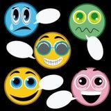 Pięć ikon wyrazy twarzy ilustracji