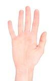 pięć językowy numerowy znak Obrazy Royalty Free