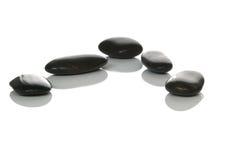 pięć kamienie czerni fotografia stock