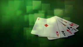Pięć kart spada na ziemi zbiory
