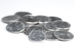 pięć kawałków, penny Zdjęcia Royalty Free