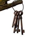 Pięć keychain na bielu Obrazy Royalty Free