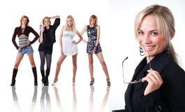 pięć kobieta Zdjęcie Stock