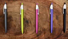 Pięć Kolorowy pióro obraz royalty free