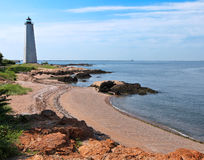 pięć latarni morskich mila zdjęcia stock