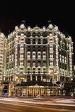 Pięć Legendale gwiazdowy hotel przy nocą, Pekin, Chiny Zdjęcia Stock