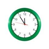 Pięć minut dwanaście na zegarze Obrazy Royalty Free